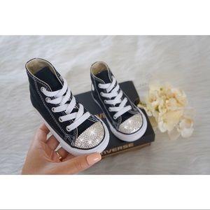 ⚡️Custom Bling Hightop Toddler Converse⚡️